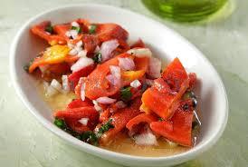 салат из запеченного красного перца
